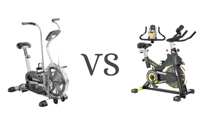 air bike vs spin bike