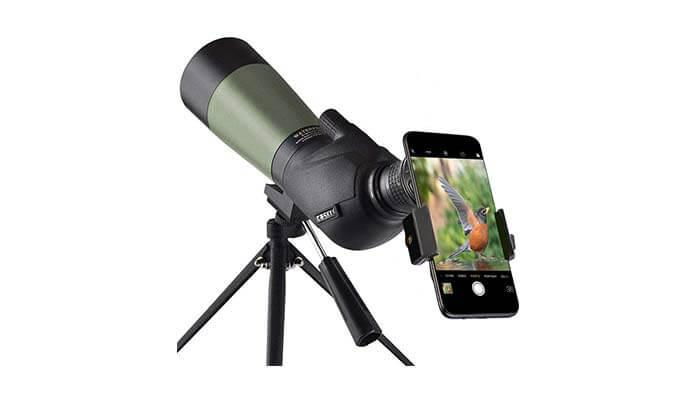 angled spotting scope