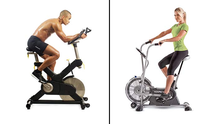 body position in air and spin bike