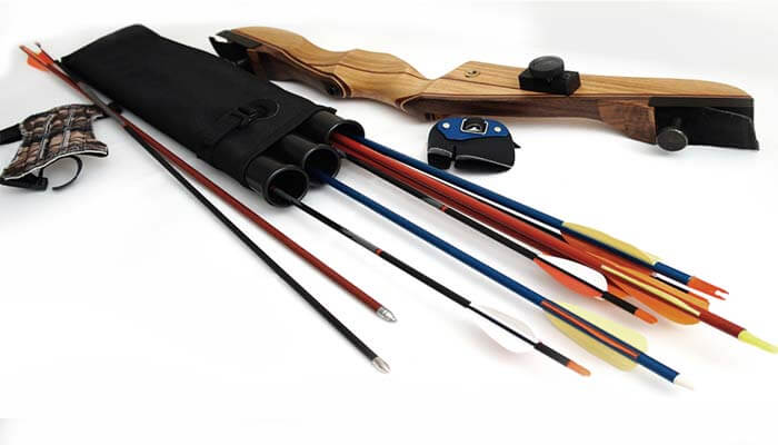 recurve bow without a stringer