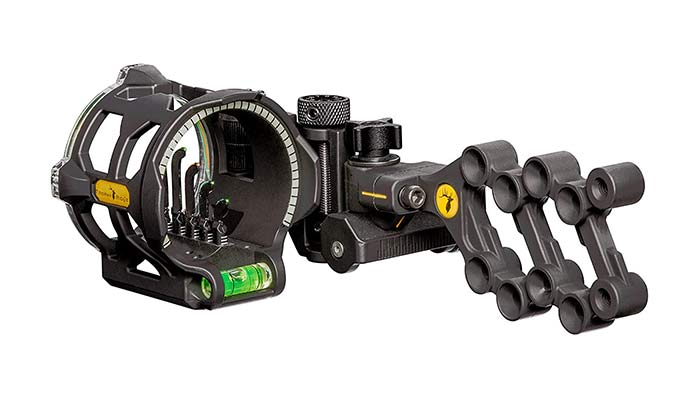 vertical pin bow sight