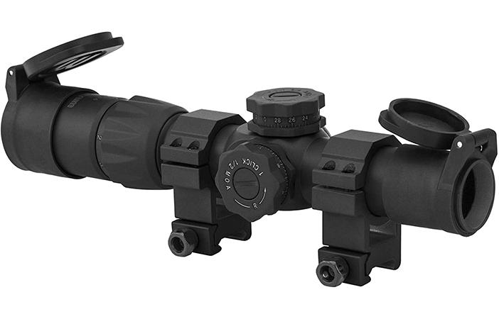 Monstrum Rubberized Flip-Up Rifle Scope Lens Covers