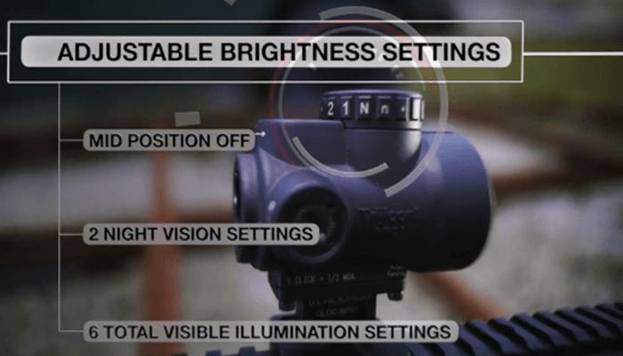 brightness settings of trijicon mro