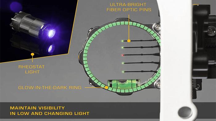 multi pin bow sight