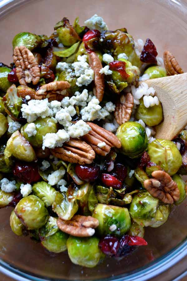 Brussels sprouts with cranberries & pecans