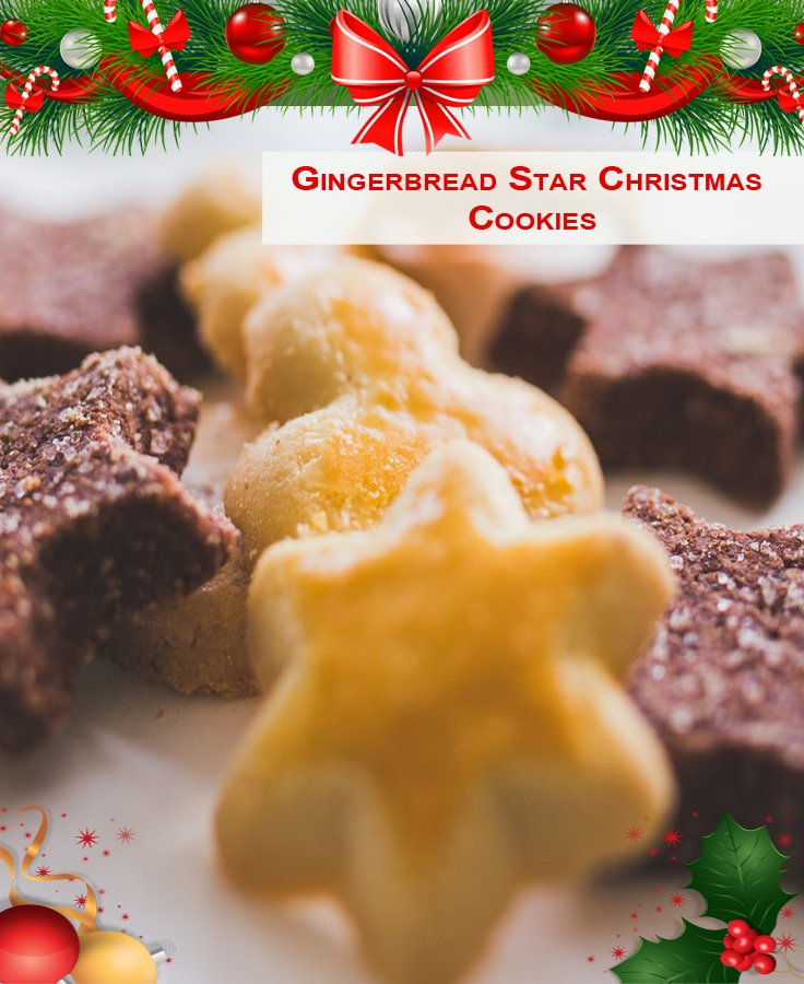 Gingerbread Star Christmas Cookies