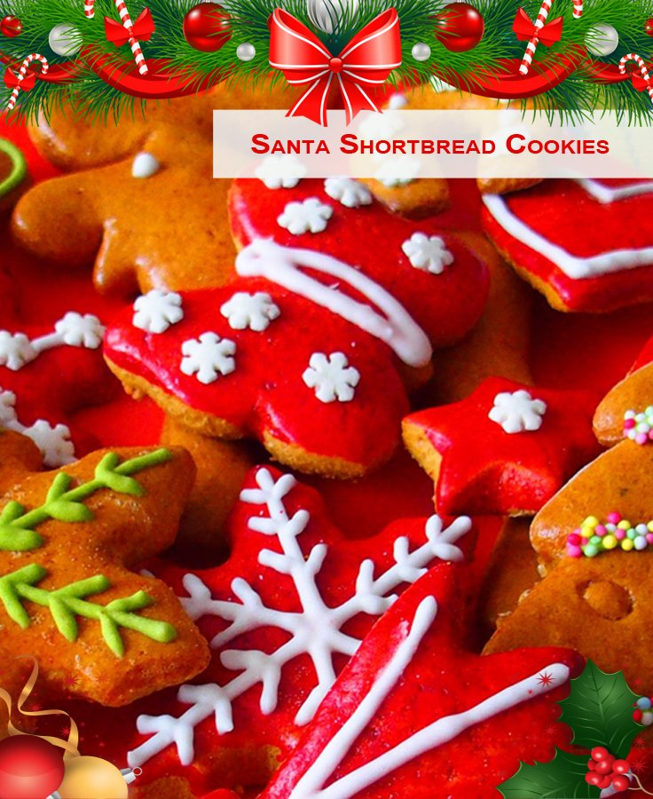 Santa Shortbread Cookies