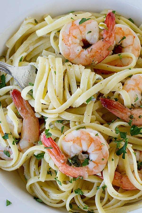 Shrimp Lemon Pepper Linguine
