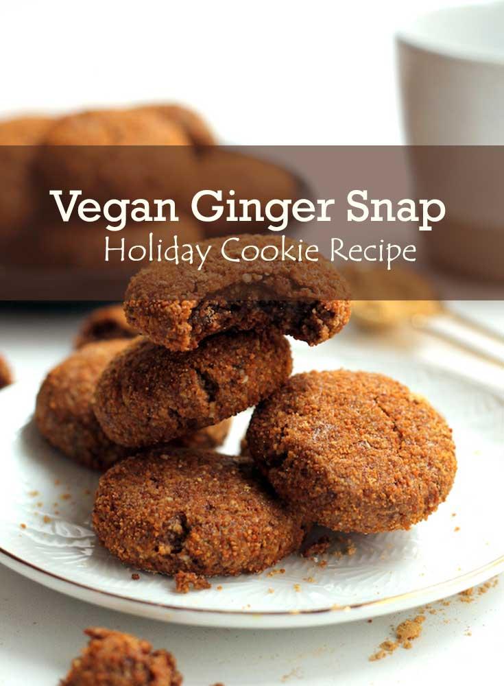 Vegan Ginger Snap Cookies