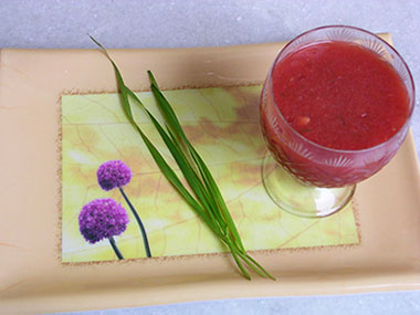 Wheatgrass and watermelon juice