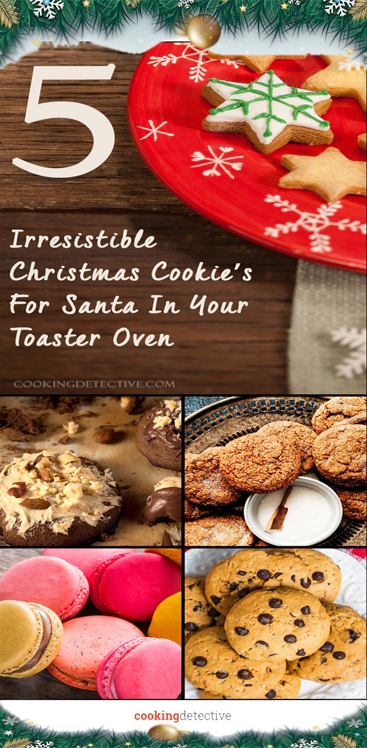 christmas cookies in toaster oven