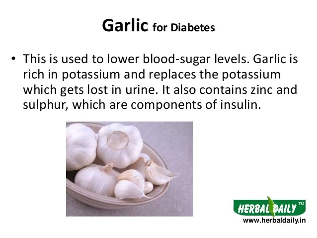 garlic for diabetic