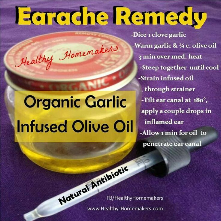 garlic oil drops for earache relief