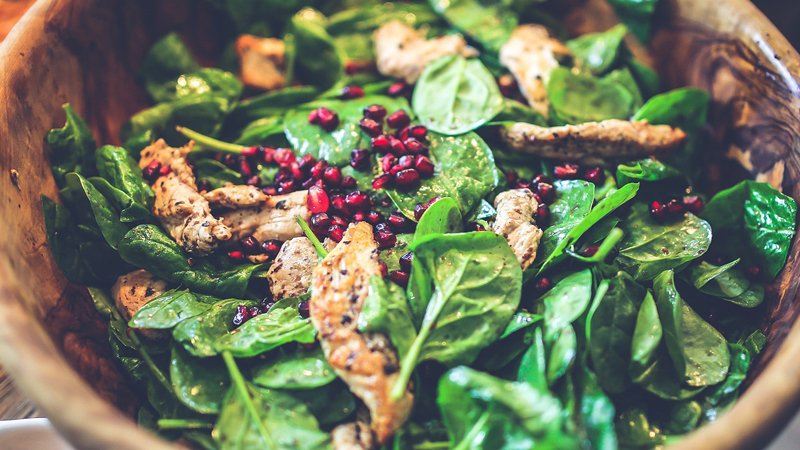 spinach-cranberry
